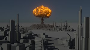 3d houdini power asset nuclear explosion