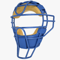 catchers face mask 3d max