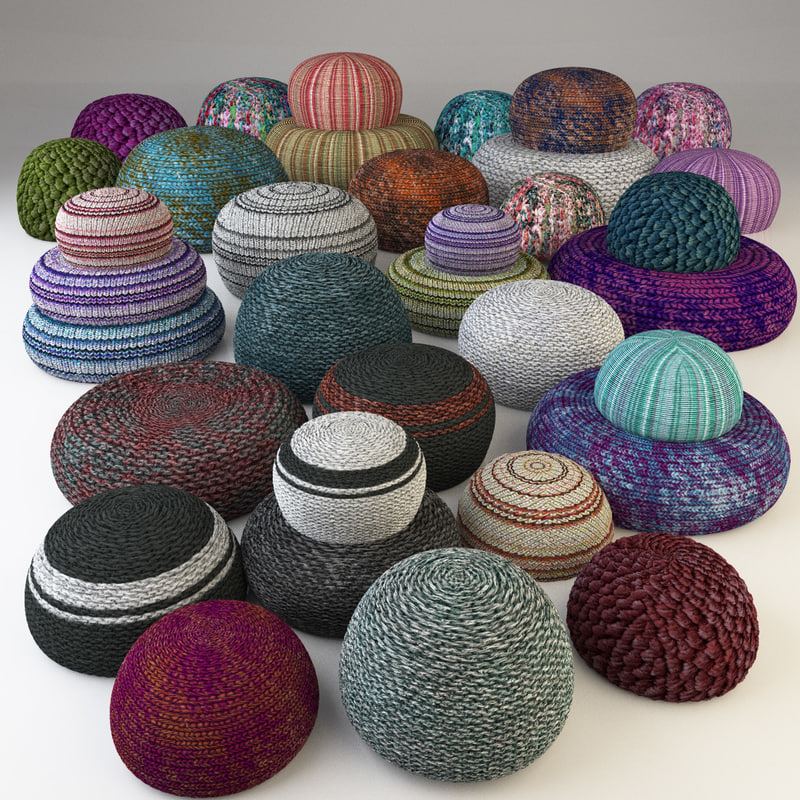 3d knitted fabric pouf