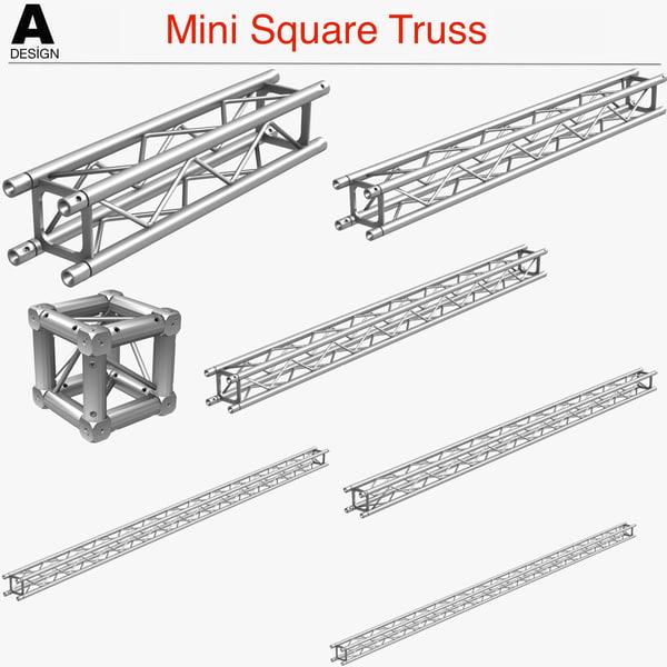 3d mini square truss 005