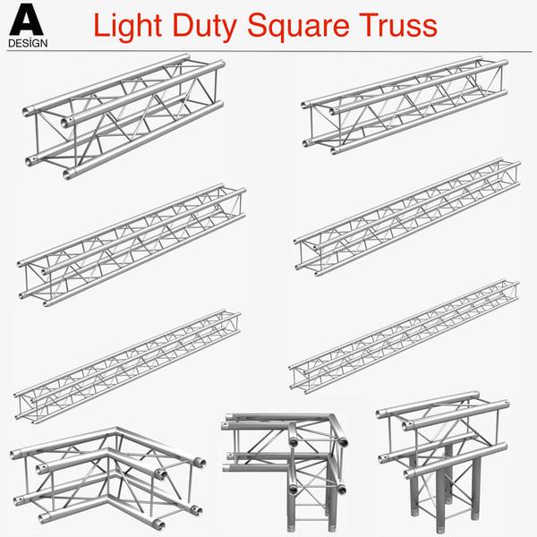 light duty square truss 3ds