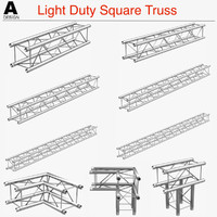 light duty square truss 3d obj