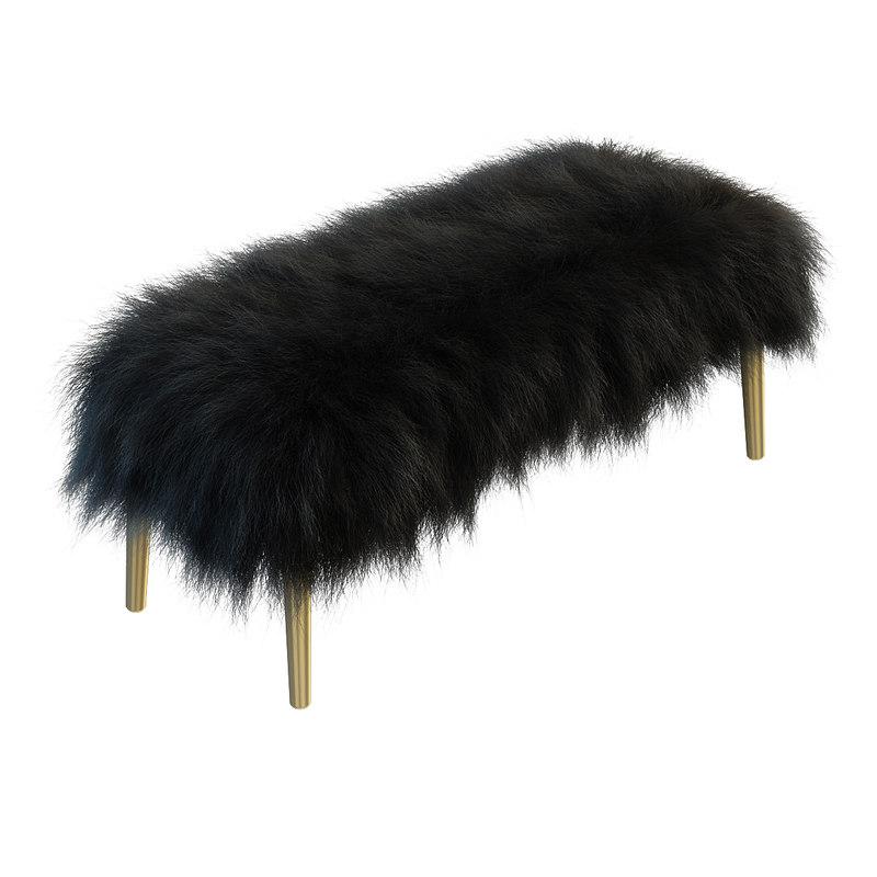 hair large mongolian lamb 3d model