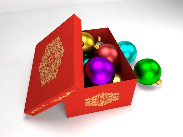 christmas tree balls 3d ma