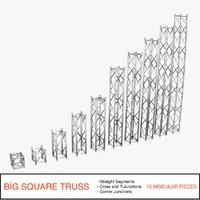 3d obj big square truss 007