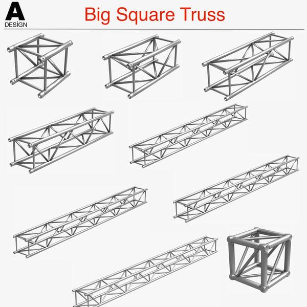 3d big square truss 10