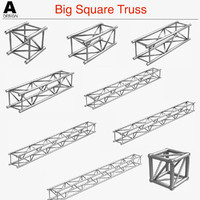 big square truss 007 3d model