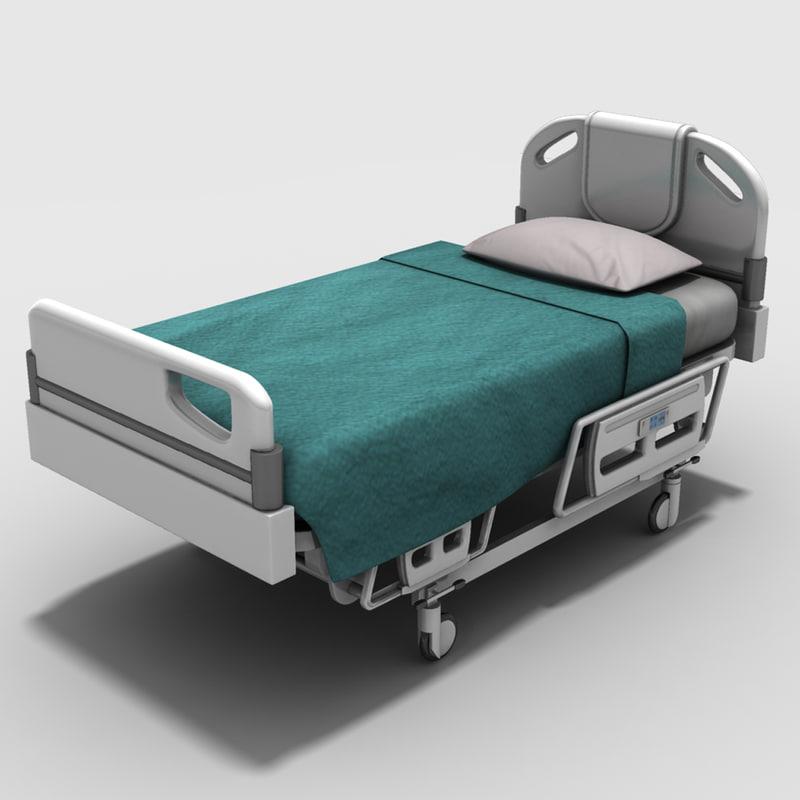 3d hospital bed model for Bed models images