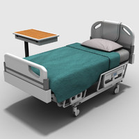 hospital bed table 3d model