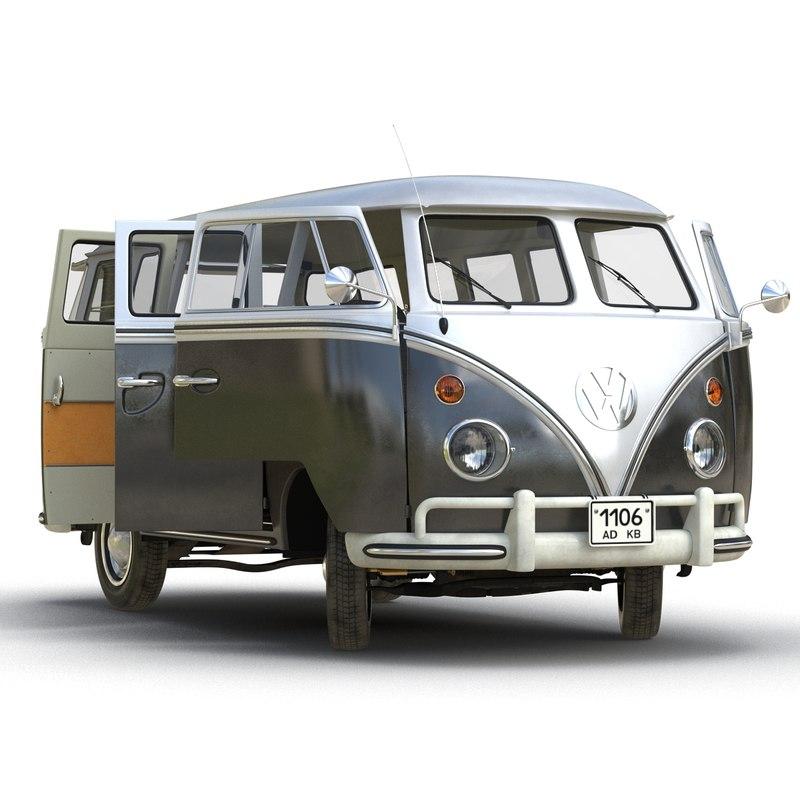 volkswagen type 2 black 3d model