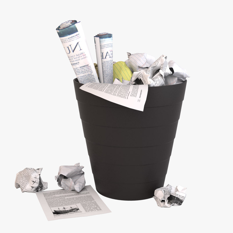 waste paper basket 3d model