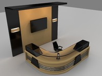 free reception table 3d model