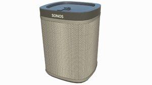 sonos speaker 3d model
