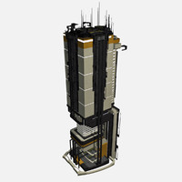 Sci Fi Building Modern City - Sci-Fi Fantasy Tile 1