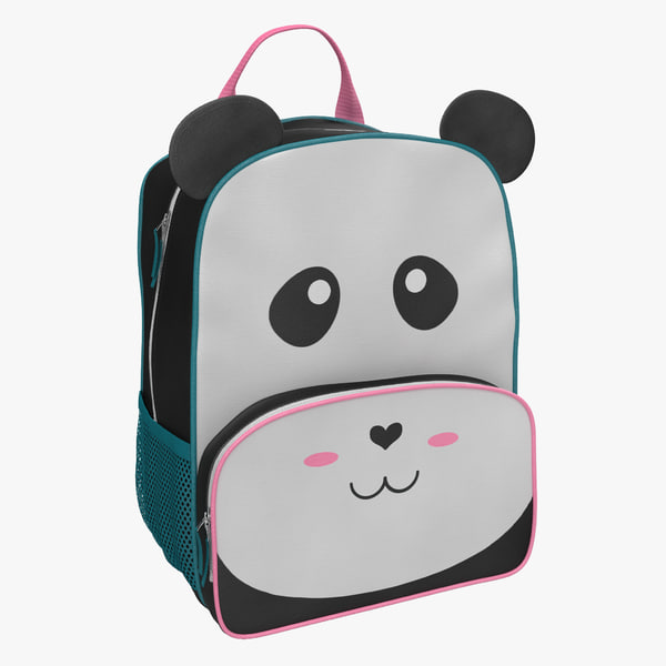 3d model kid backpack panda