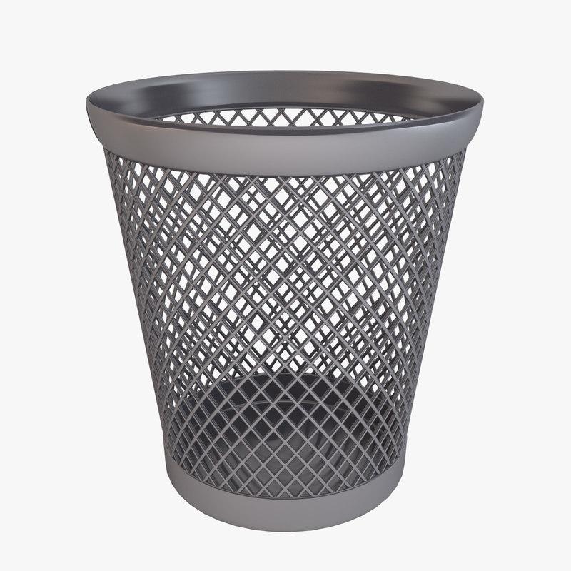3d model waste paper basket