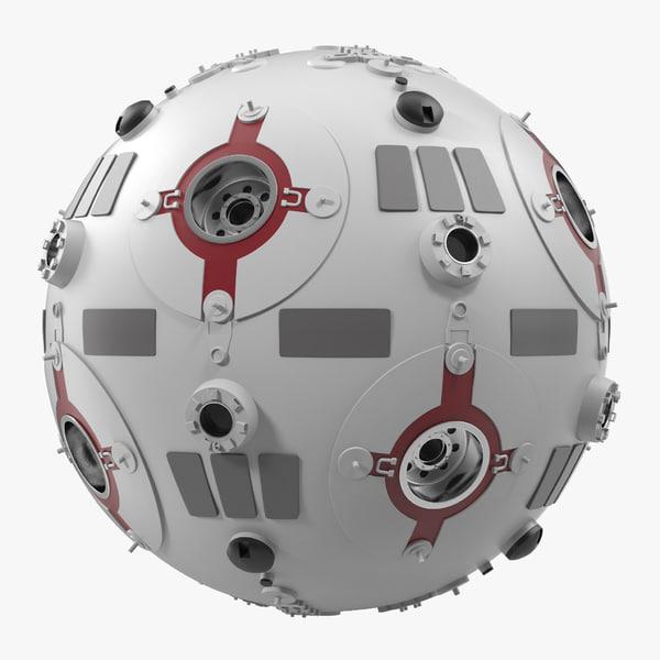 3d star wars training droid model