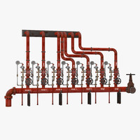 Industrial Pipes 3 3D Model