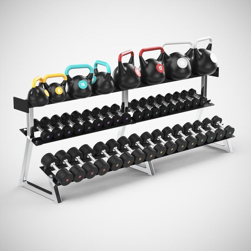 3d weight rack
