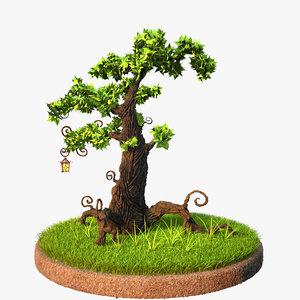 scene grass plants 3d max