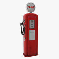 3d max retro gas pump