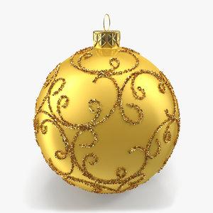 christmas bell 3d obj