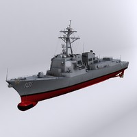 arleigh burke class destroyers 3d model