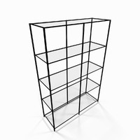 Metal utility shelf