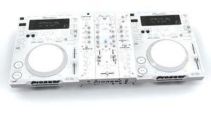 pioneer cdj 350 djm 3d max