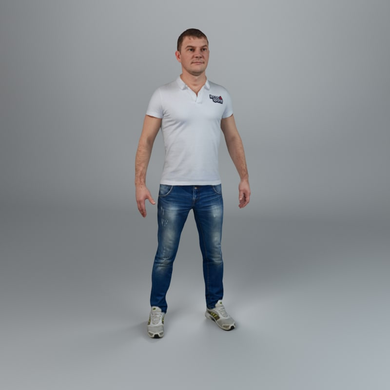 3ds max man casual ready