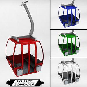 ski lift gondola cable car 3d max