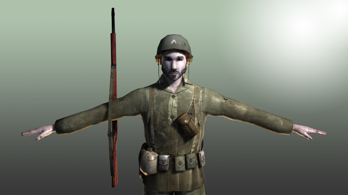infantry soldier 3d model
