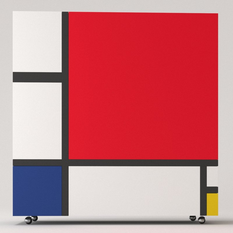 cappellini homage mondrian cabinets 3ds