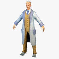 gentleman robe character 3d model