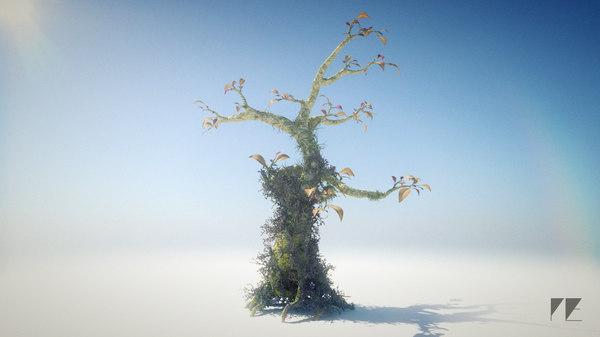 3d model whimsical fantasy tree leaves