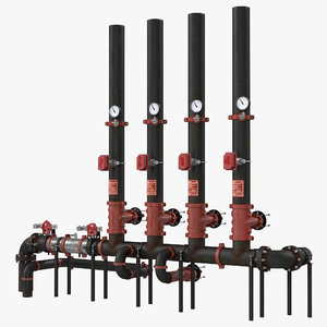 3d industrial pipes 4