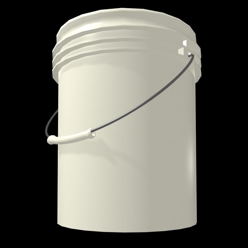 free plastic bucket 3d model