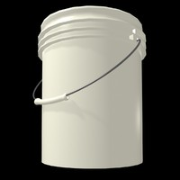 free plastic bucket 3d model