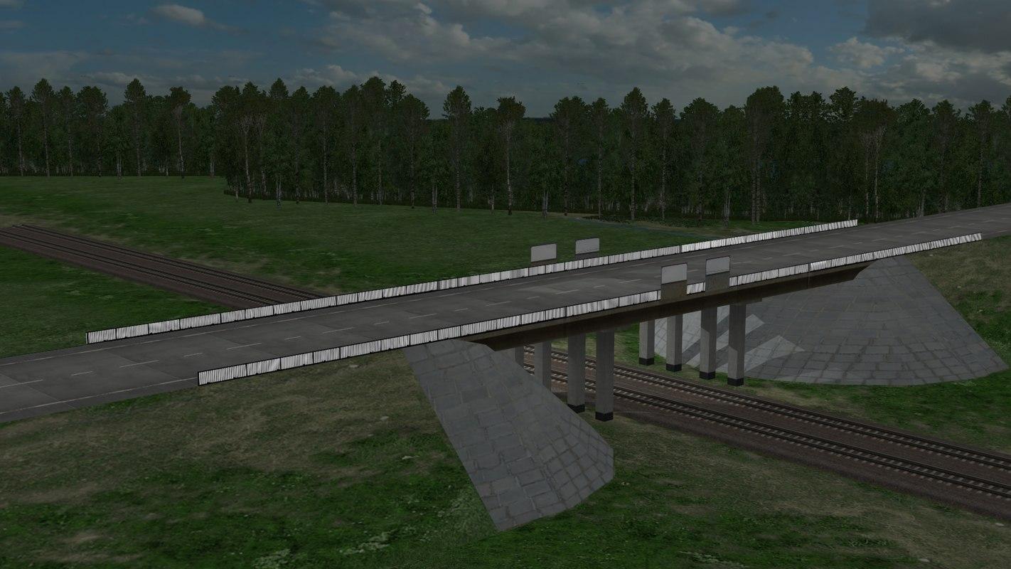 3d bridge road model