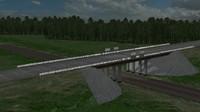 A bridge for the railroad
