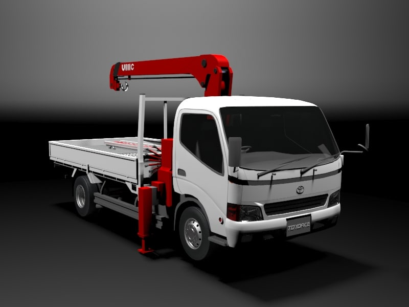 toyota toyoace truck industrial 3d 3ds