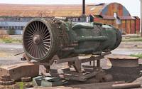 f-16 jet engine 3d max