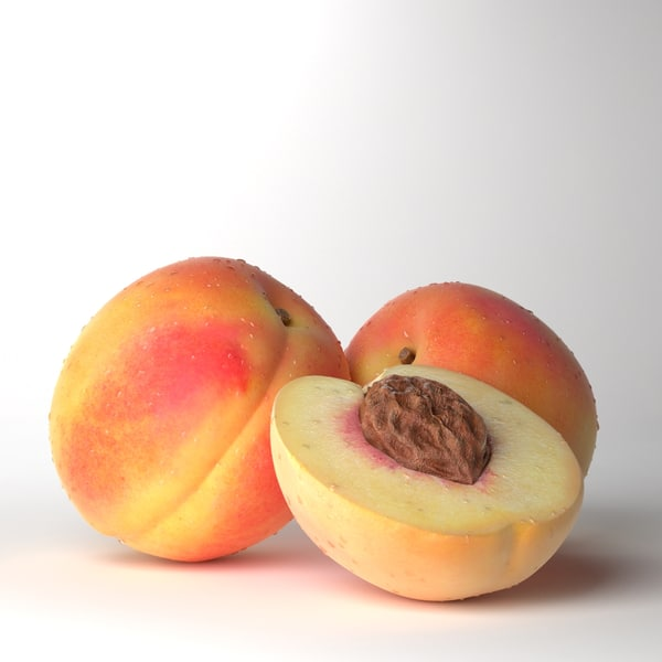 3d obj photorealistic peach realistic real