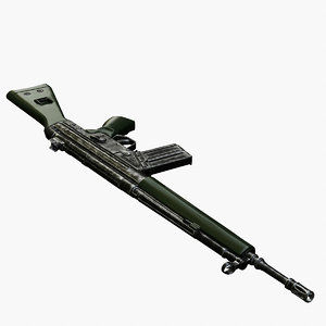 hk g3a3 rifle 3d model