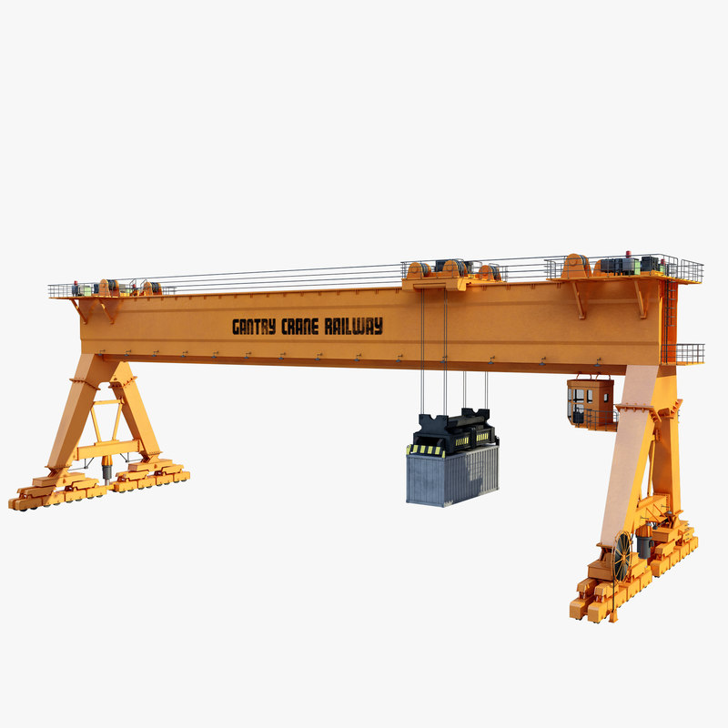 3ds max gantry crane railway