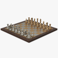 metal chessboard 3d model