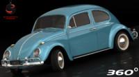 Volkswagen Beetle 1962 (Low Interior)