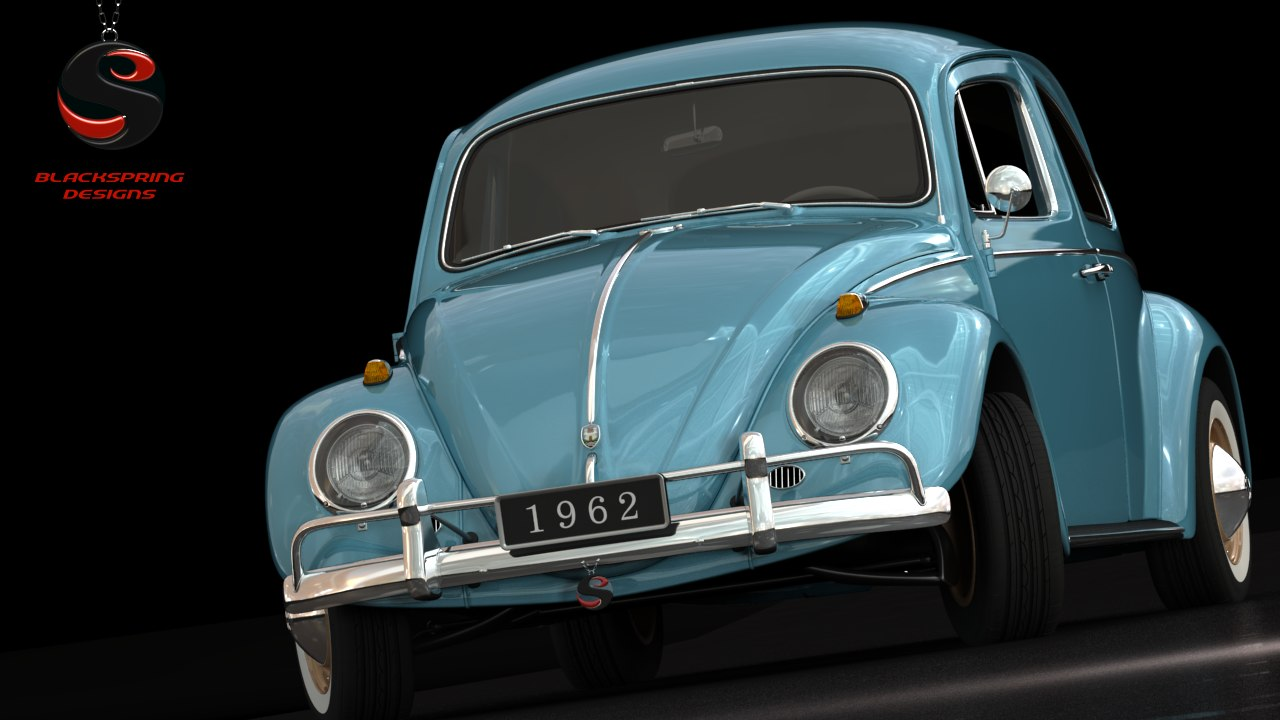 3d Volkswagen Beetle 1962 Interior Model 1960