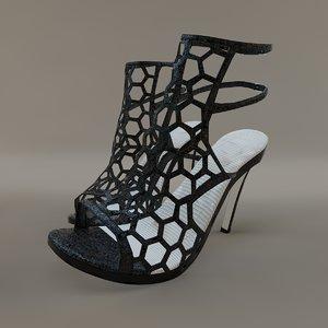 female shoes woman 3d model