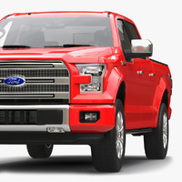 3d model of f 150 supercrew 2015